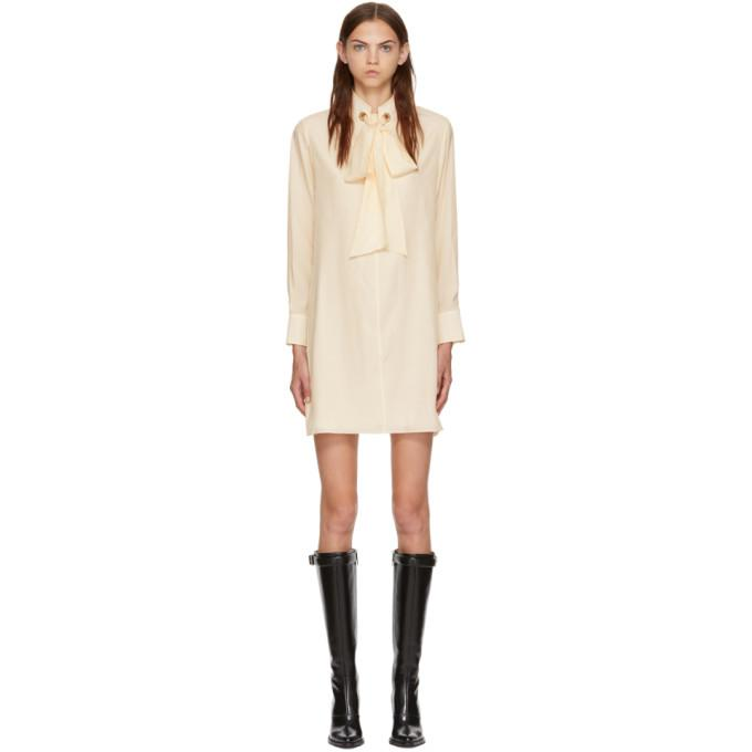 Chloé White Silk Dress-BLACKSKINNY.COM