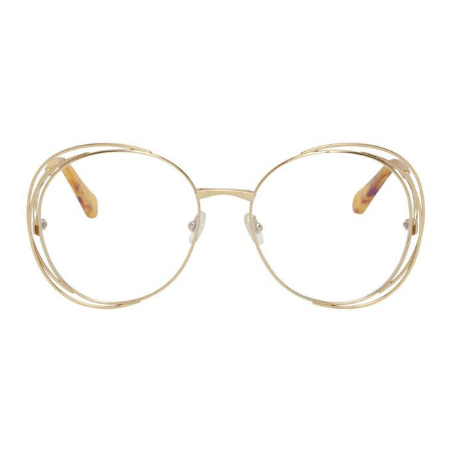 Chloe Gold Carlina Glasses