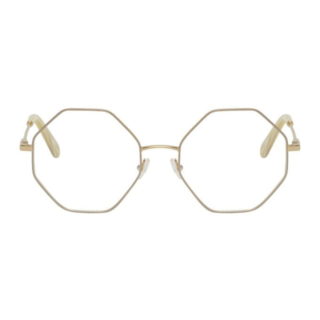 Chloe Gold Metal Octagon Glasses