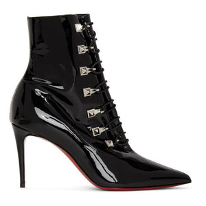 Christian Louboutin Black Patent Frenchissima 2020 Boots