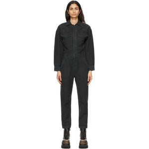 Citizens of Humanity Black Denim Marta Jumpsuit
