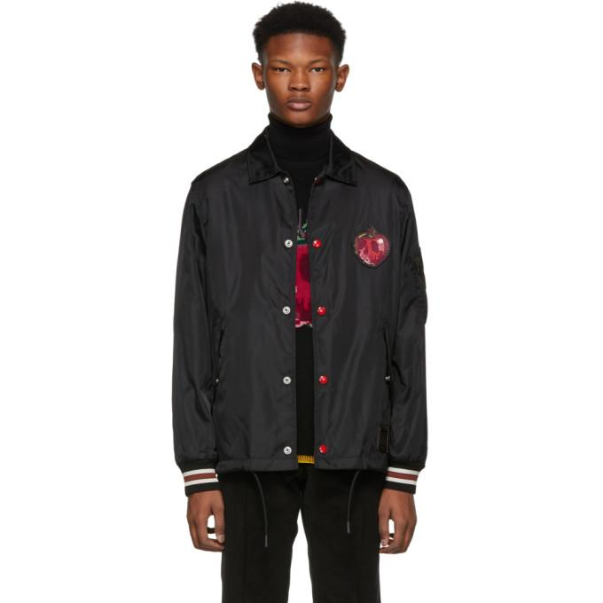 Coach 1941 Black Disney Edition 'Poison Apple' Coach's Jacket-BlackSkinny