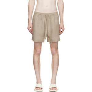 COMMAS Beige Linen Shorts