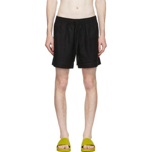 COMMAS Black Linen Shorts