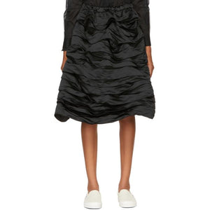 Comme des Garçons Girl Black Layered Ruffled Skirt-BLACKSKINNY.COM