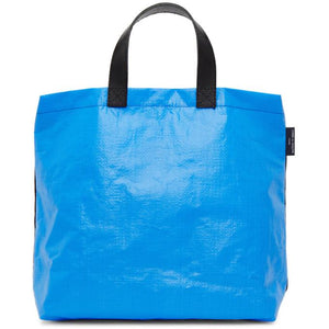 Comme des Garcons Homme Black and Blue Panelled Tote