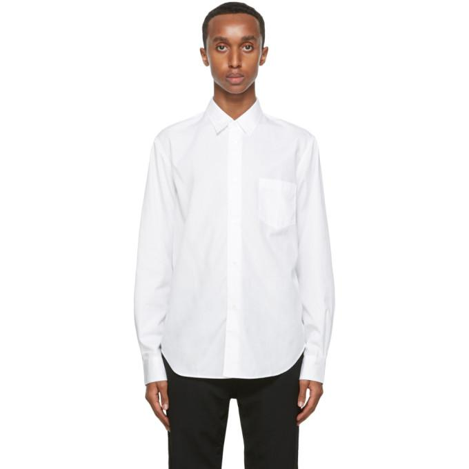Comme des Garcons Homme White Broadcloth Shirt