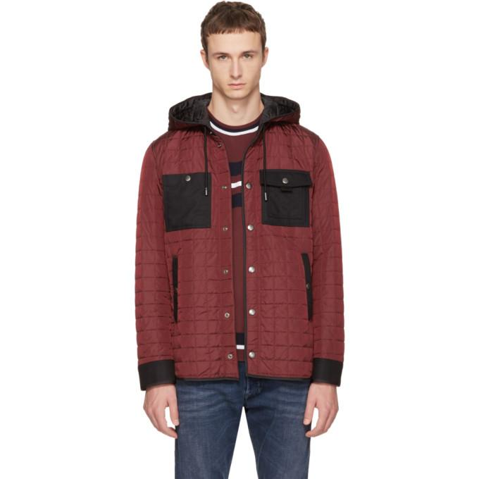 Diesel Black Gold Burgundy Quilted Jacket-BlackSkinny