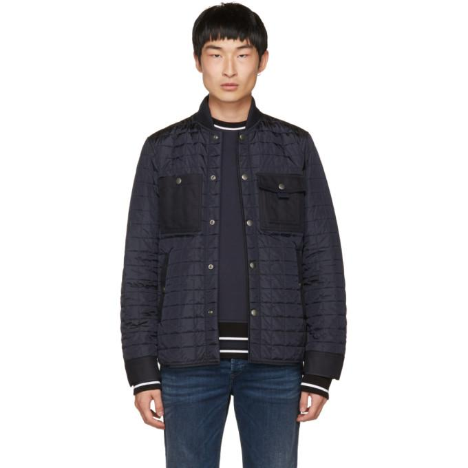 Diesel Black Gold Navy Quilted Jacket-BlackSkinny
