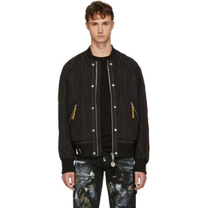 Diesel Black J-Shark Bomber Jacket-BlackSkinny