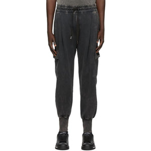 Dolce and Gabbana Black Washed Cargo Pants