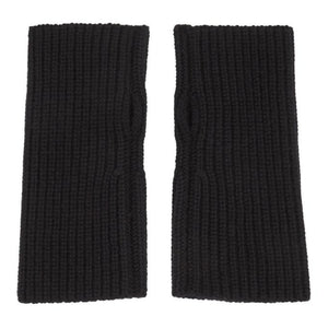 Dolce and Gabbana Black Wool Fingerless Gloves