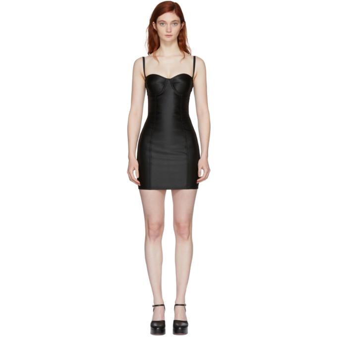 Dolce & Gabbana Black Sateen Bustier Dress-BLACKSKINNY.COM