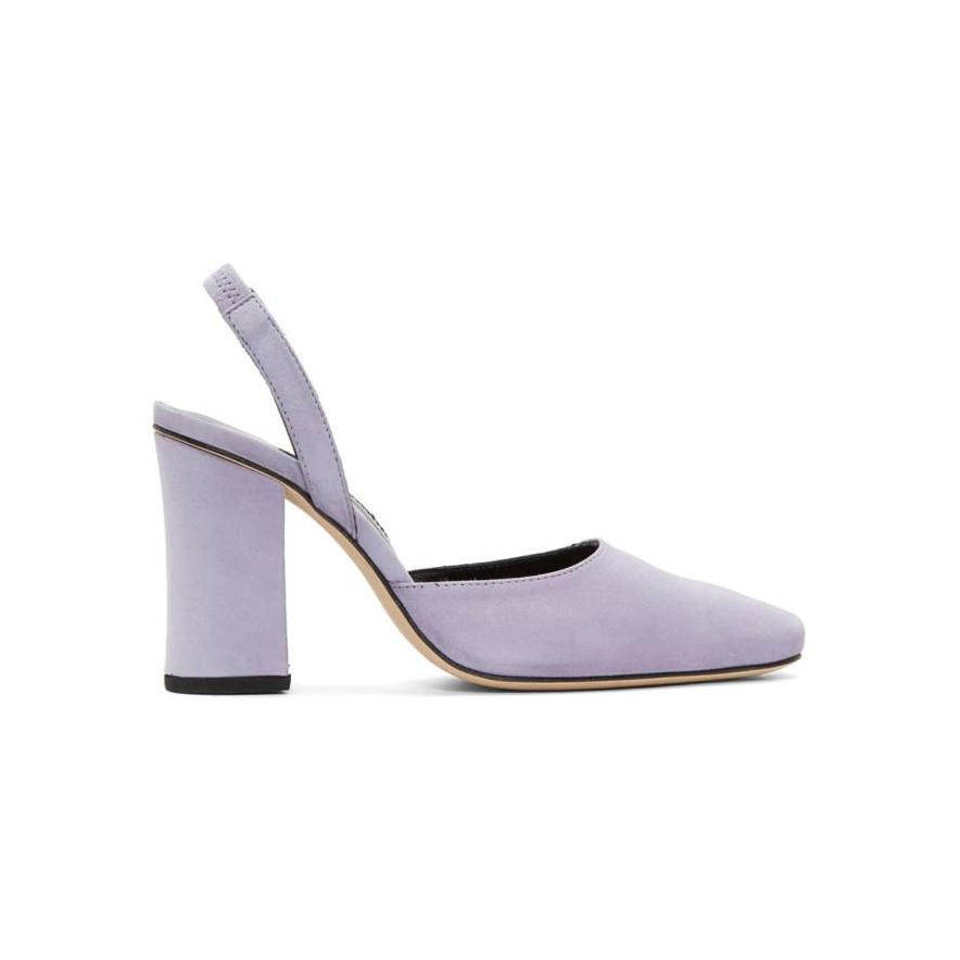 Dorateymur Purple Suede Resort 1802 Heels-BLACKSKINNY.COM