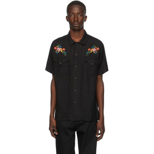 Double Rainbouu Black West Coast Short Sleeve Shirt