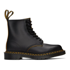 Dr. Martens Black 1460 Double Stitch Lace-Up Boots