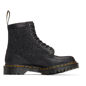 Dr. Martens Black Made In England Harris Tweed Edition 1460 Boots
