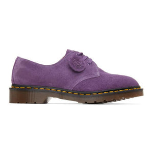 Dr. Martens Purple C.F. Stead Suede Made In England 1461 Derbys