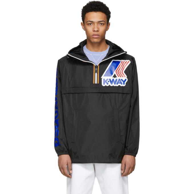 Dsquared2 Black K-Way Edition Zipped Jacket-BlackSkinny