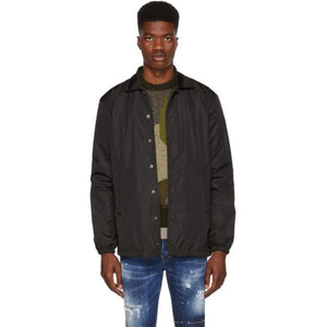 Dsquared2 Black Logo Coach Jacket-BlackSkinny