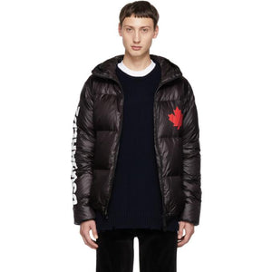 Dsquared2 Black Puffer Jacket-BlackSkinny