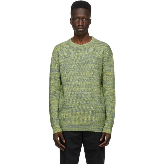 Dunhill Grey and Yellow Melange Sweater