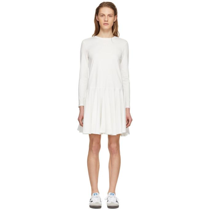 Edit White Circle Skirt Dress-BLACKSKINNY.COM