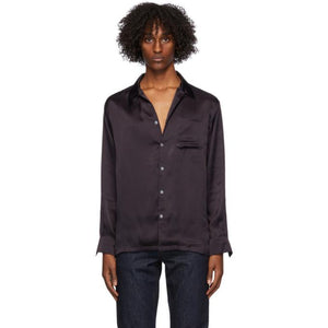 Endless Joy Navy Silk Cruiser Shirt