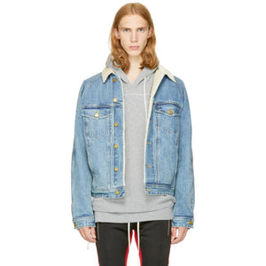 Fear of God Indigo Selvedge Denim Lined Trucker Jacket-BlackSkinny