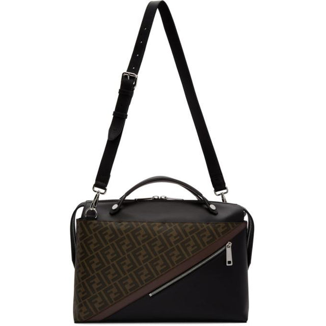 Fendi Black and Brown Forever Fendi By The Way Briefcase