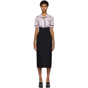Fendi Black and Navy Prince Of Wales Skirt