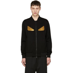 Fendi Black 'Bag Bugs' Bomber Jacket-BlackSkinny