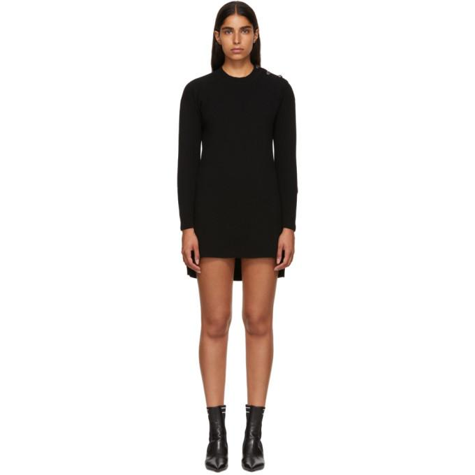 Fendi Black Cashmere 'Forever Fendi' Dress-BLACKSKINNY.COM
