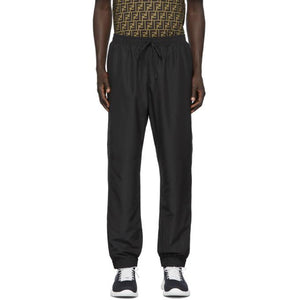Fendi Black Micro Forever Fendi Piping Lounge Pants