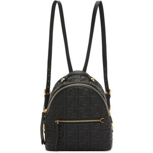 Fendi Black Mini Forever Fendi Backpack