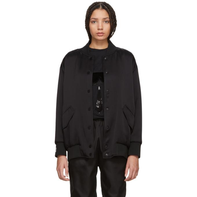 Fendi Black Pearls Bow Back Bomber Jacket-BlackSkinny