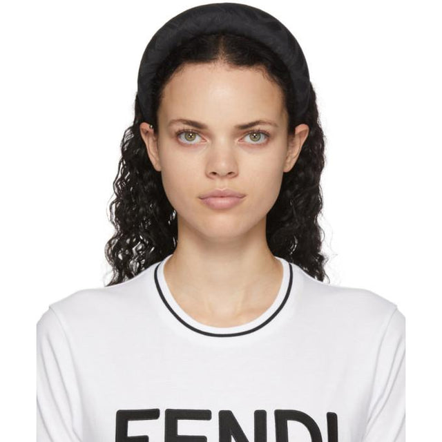 Fendi Black Silk Forever Fendi Headband