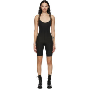 Fendi Black Stretch Forever Fendi Fitness Bodysuit