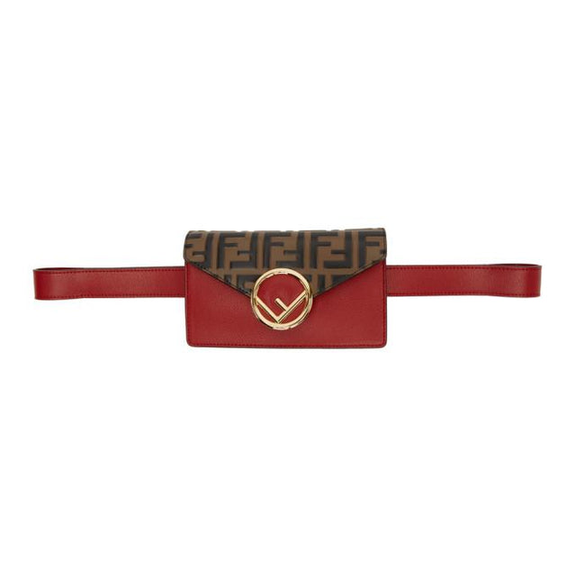 Fendi Red and Brown Forever Fendi Belt Bag
