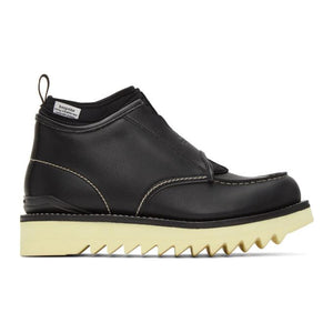 Fumito Ganryu Black Suicoke Edition Slip-On Boots