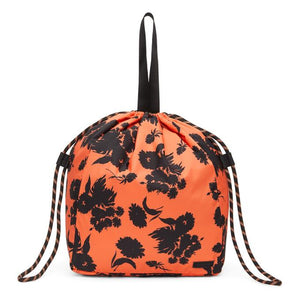 GANNI Orange Recycled Tech Drawstring Tote