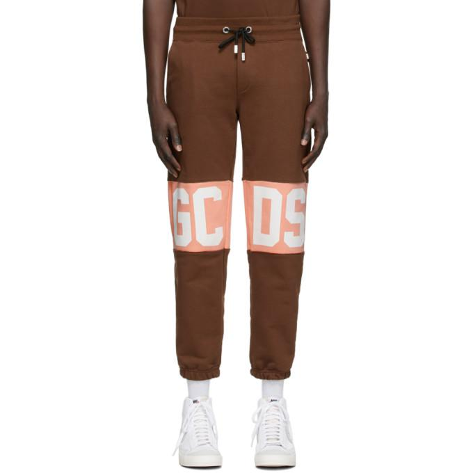 GCDS Brown Band Logo Lounge Pants