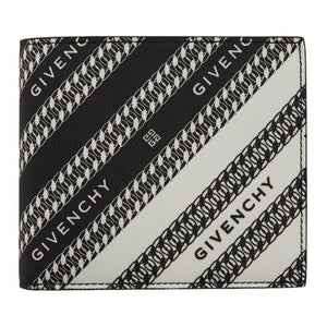 Givenchy Black and White Chain Logo Wallet