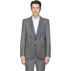 Givenchy Black and White Houndstooth Blazer