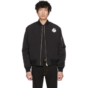 Givenchy Black 'Creatures' Bomber Jacket-BlackSkinny