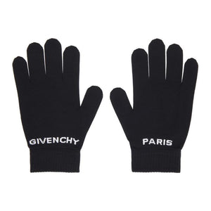 Givenchy Black Logo Gloves