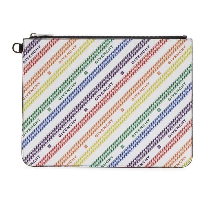 Givenchy Multicolor Large Chain Zippered Pouch