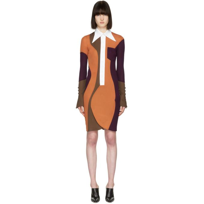 Givenchy Multicolor Wide Collar Dress-BLACKSKINNY.COM