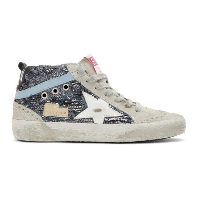 Golden Goose Multicolor Paillettes Mid Star Sneakers