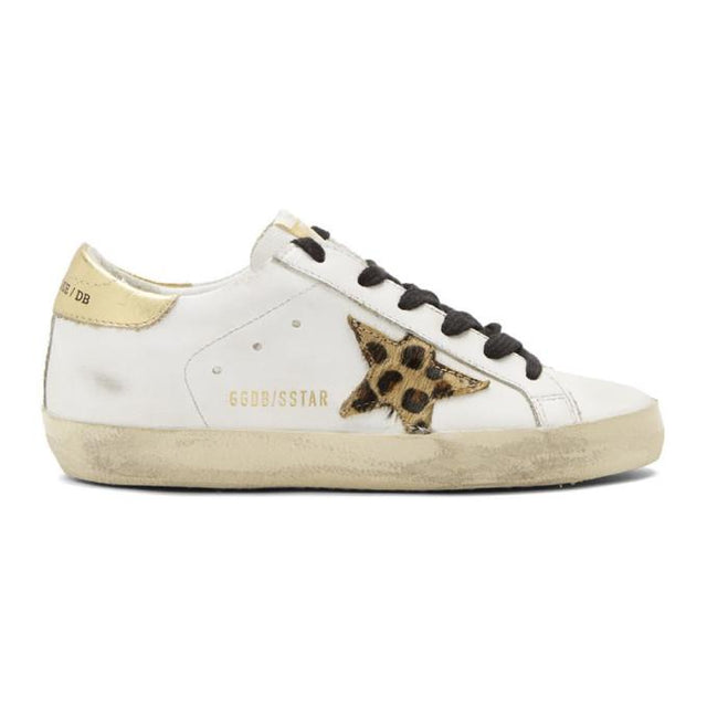 Golden Goose White Gold Tab Super Star Sneakers